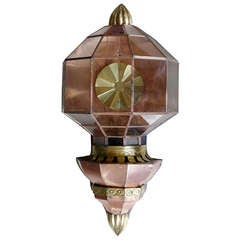 Large Vintage Copper Wall Sconce, circa 1970s