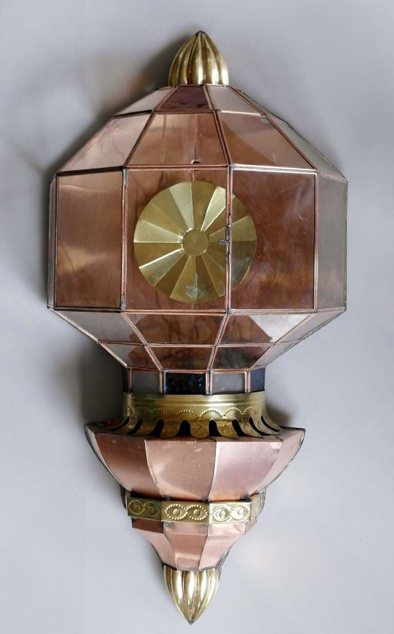 Wall Sconces Copper : Large Vintage Mexican Copper Wall Sconce at 1stdibs