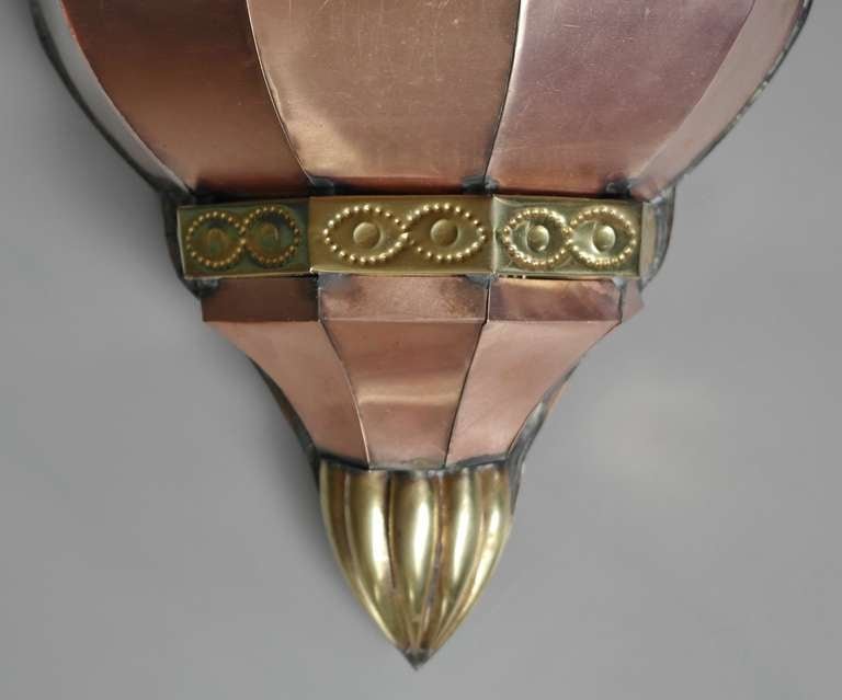 Wall Sconces Mexican : Large Vintage Mexican Copper Wall Sconce at 1stdibs