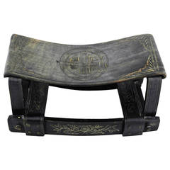 19th Century Chinese Qing Dynasty Horn Pillow