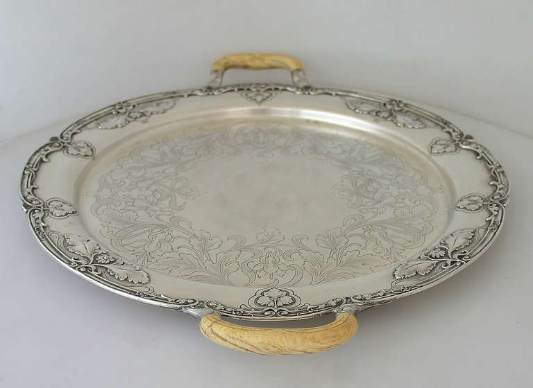 rare gorham athenic sterling silver serving tray art nouveau 1903 superb at 1stdibs
