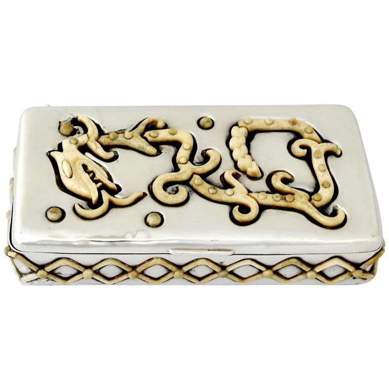 Salvador Teran Sterling Silver Box, 1960, Rare