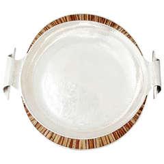 Emilia Castillo Silver Plate, Hand-Hammered Centerpiece Bowl
