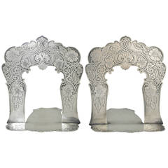Museum Quality Tiffany & Co. Sterling Silver Pair of Bookends, 1905