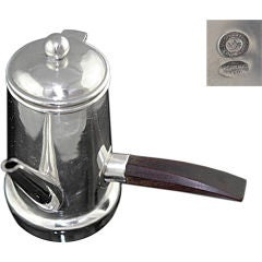 SPRATLING STERLING SILVER ROSEWOOD ESPRESSO COFFEE POT