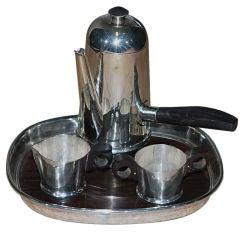Spratling Tray Pot Creamer Sugar in Sterling Silver Ebony