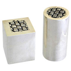 Antonio Pineda .970 Silver Salt and Pepper Shakers