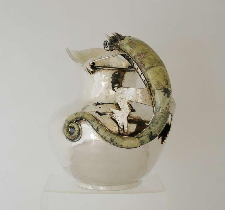 Wolmar Castillo Taxco Handwrought Silverplate Salamander