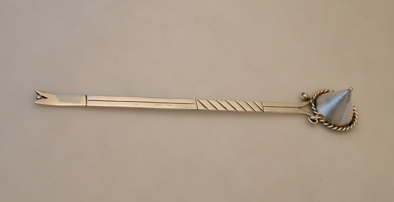 Hector Aguilar Taxco Sterling Silver Candle Snuffer At 1stdibs