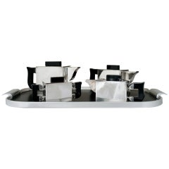 Cubist Modern 4 Piece Coffee & Tea Service With Tray