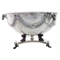 Horse Motif Sterling Silver Centerpiece Bowl