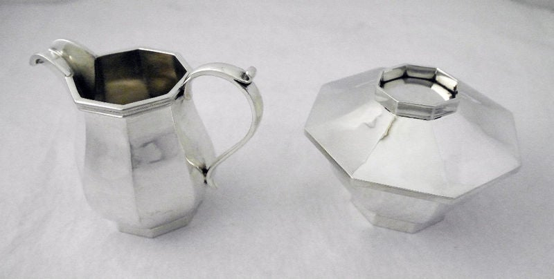 Cartier Schroth 1950 Handmade Sterling Silver/Coffee Tea Service 3