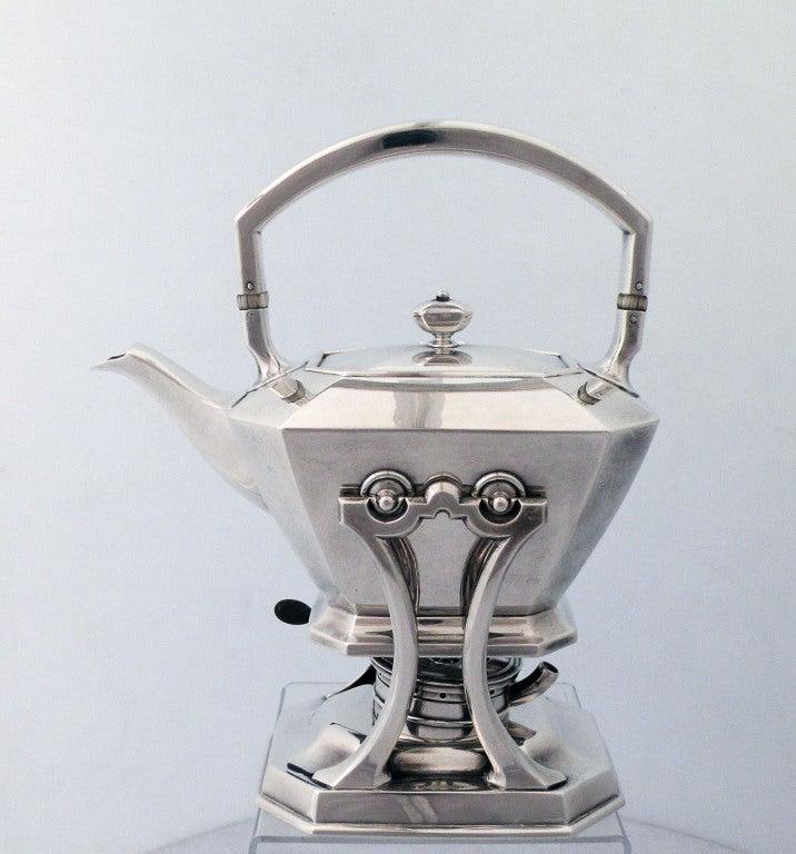 Art Deco 1929 Durgin/Gorham Sterling Silver Tea & Coffee Set 3