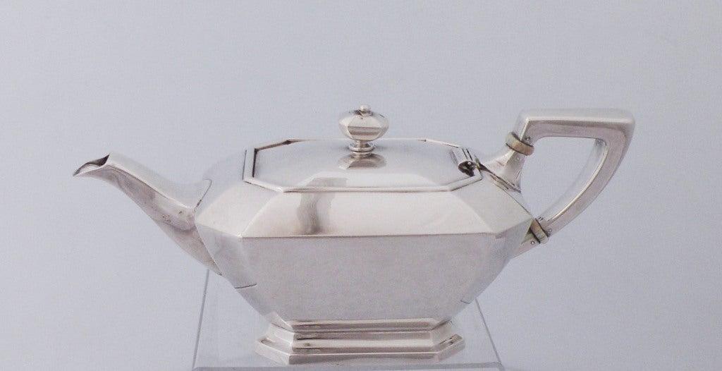 Art Deco 1929 Durgin/Gorham Sterling Silver Tea & Coffee Set 4