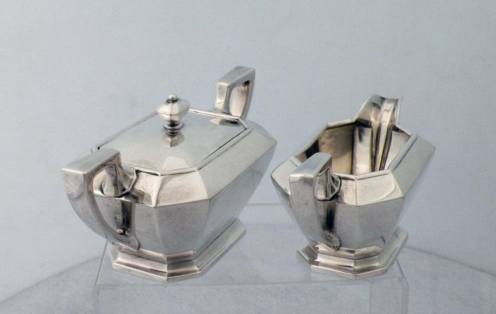 Art Deco 1929 Durgin/Gorham Sterling Silver Tea & Coffee Set 5