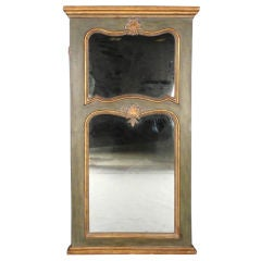 Large Painted Trumeau Mirror