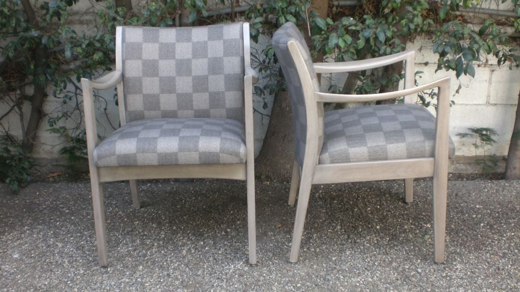 Pair of vintage chairs in wool felt fabric for sale at 1stdibs for Panton chair imitat