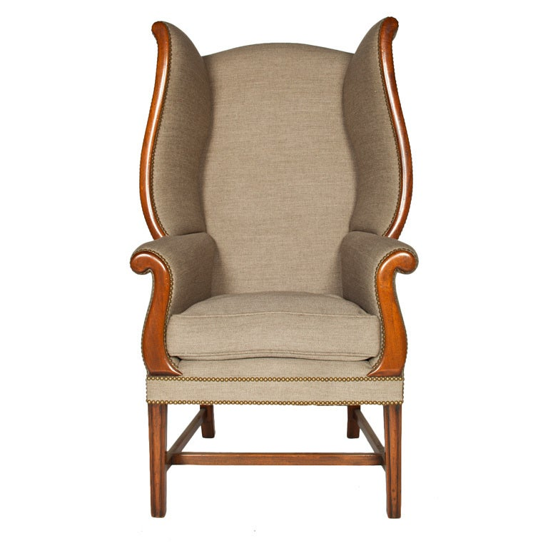 Modern Wing Chair at 1stdibs