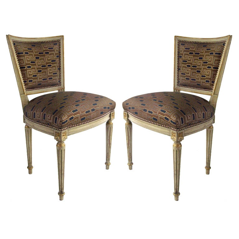 Pair of French Louis XVI Side Chairs