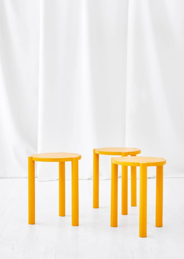 The WC3 stool by ASH NYC is a playful stool. The hand-turned legs join seamlessly with the seat to create an elegant, handcrafted joint that defies gravity. 