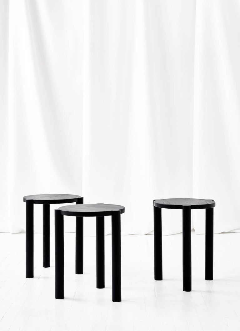 Pleasant Wc3 Stool By Ash Nyc In Black Oak Ncnpc Chair Design For Home Ncnpcorg