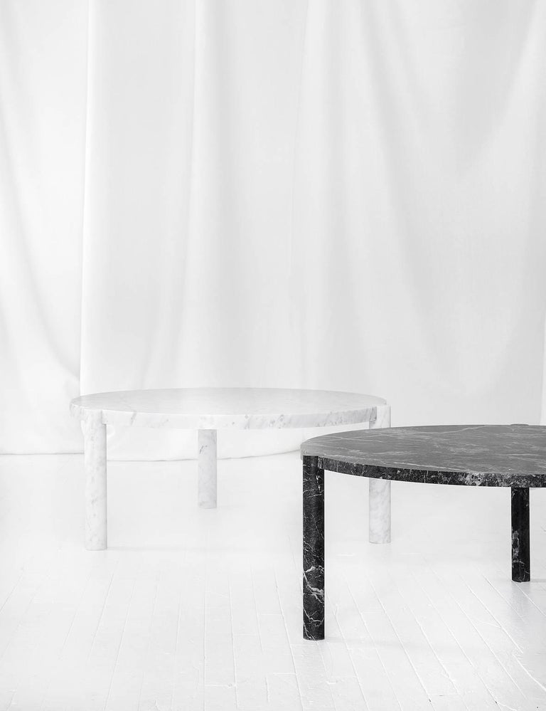 Minimalist WC1 Cocktail Table by ASH NYC in Grigio Carnico Marble For Sale