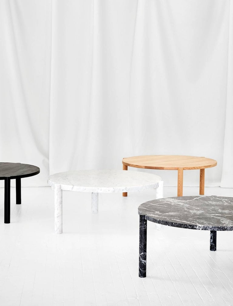 Belgian WC1 Cocktail Table by ASH NYC in Grigio Carnico Marble For Sale
