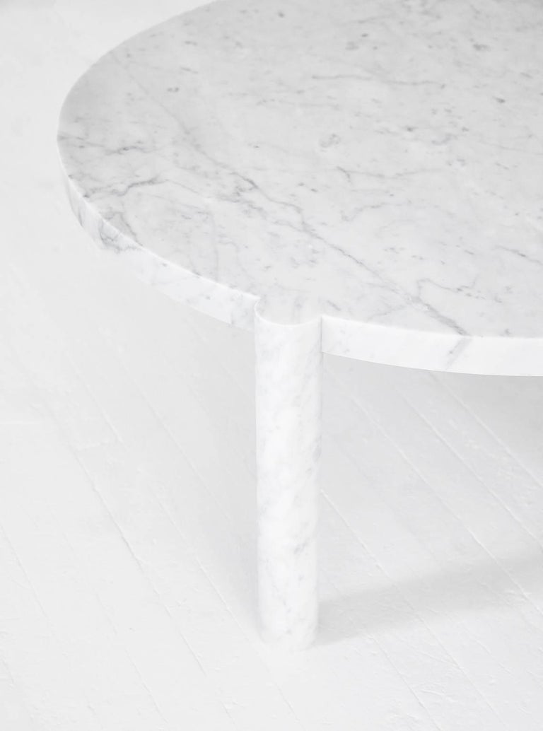 Contemporary WC1 Cocktail Table by ASH NYC in Grigio Carnico Marble For Sale