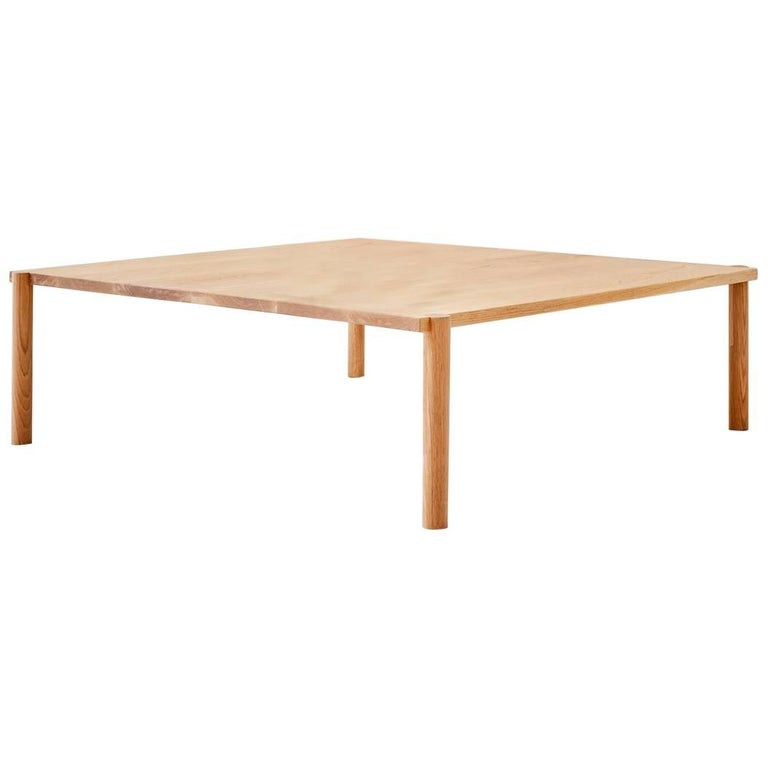 WC1.1 Cocktail Table by ASH NYC in White Oak For Sale