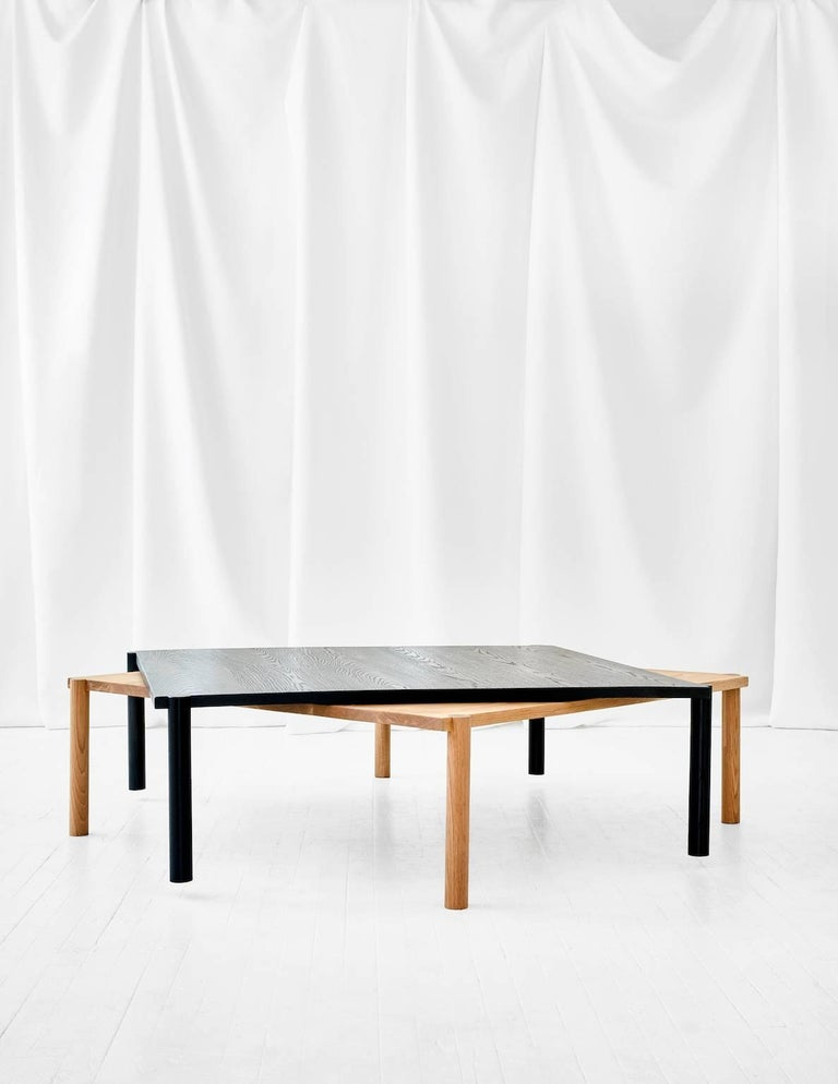 Minimalist WC1.1 Cocktail Table by ASH NYC in Black Oak For Sale