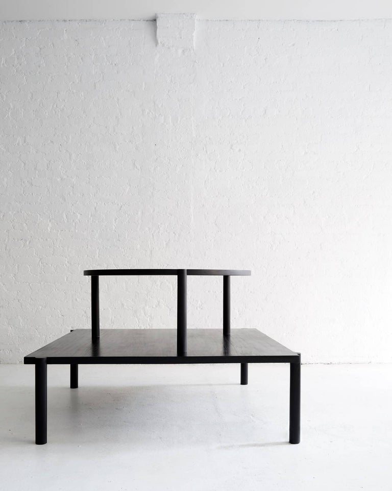 WC1.1 Cocktail Table by ASH NYC in Black Oak In Excellent Condition For Sale In Brooklyn, NY