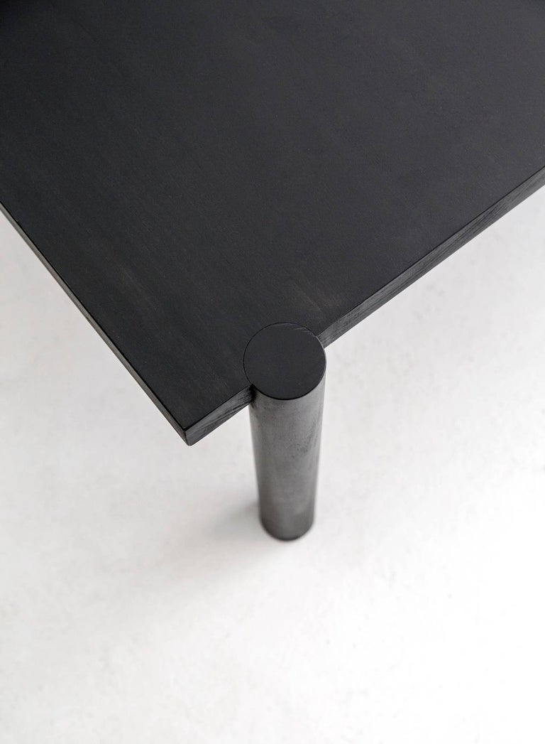Contemporary WC1.1 Cocktail Table by ASH NYC in Black Oak For Sale