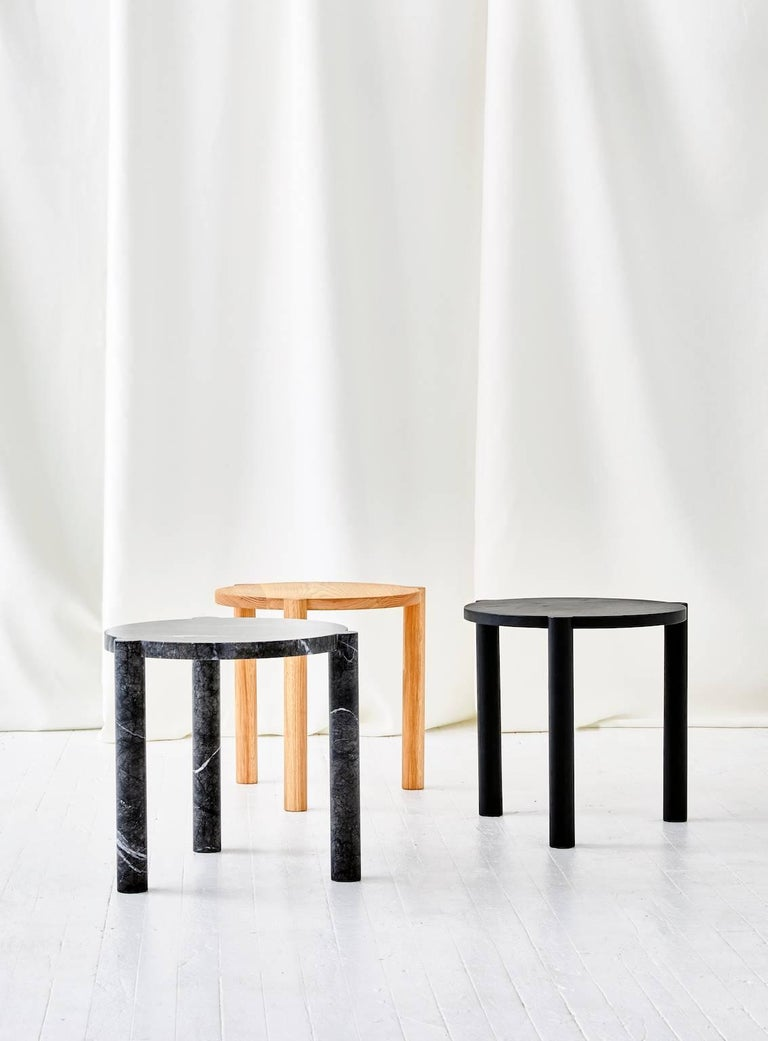Minimalist WC4 Side Table by ASH NYC in White Oak For Sale