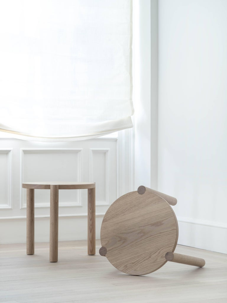 American WC4 Side Table by ASH NYC in White Oak For Sale