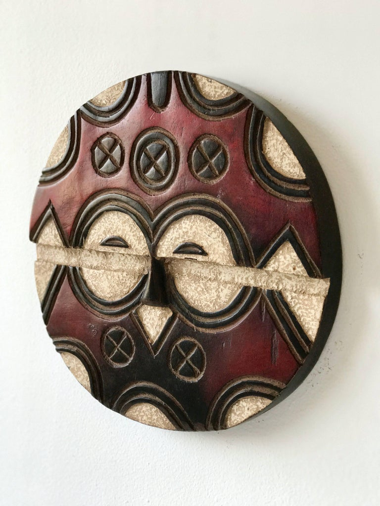 Painted Wood African Teke Masks For Sale At 1stdibs