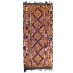 Large and Long Uzbek Kilim Rug