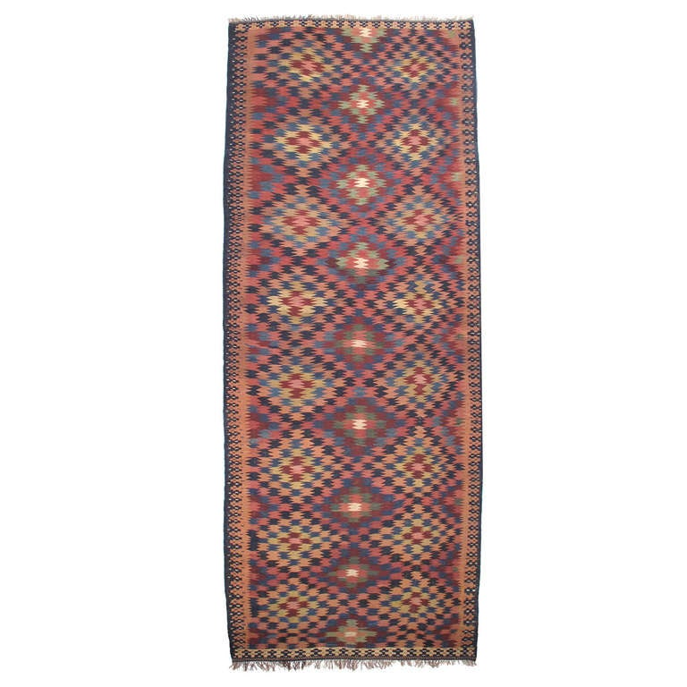 Antique Kurdish Kilim, Wide And Long For Sale At 1stdibs