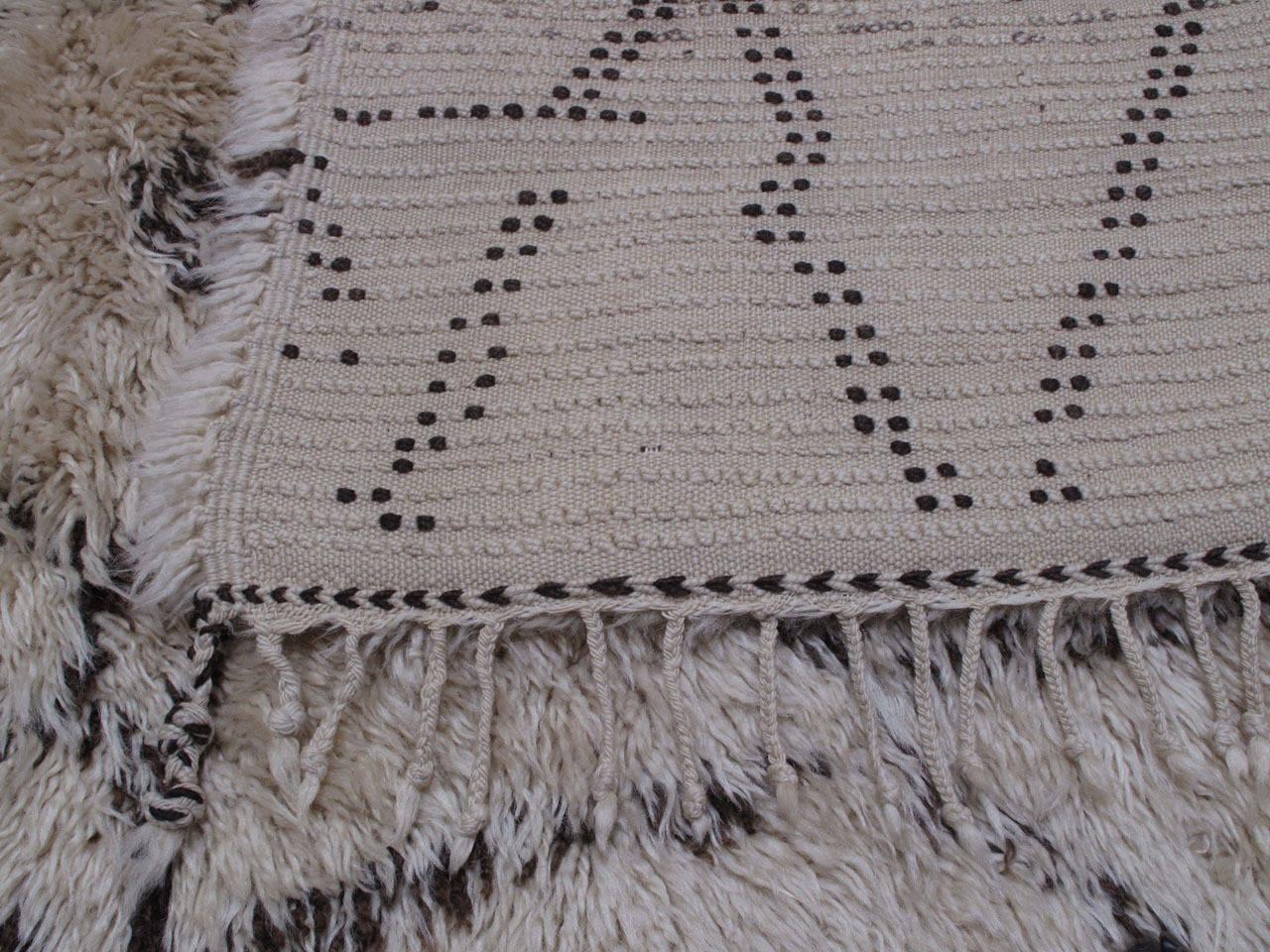 Large Beni Ouarain Moroccan Berber Carpet 1