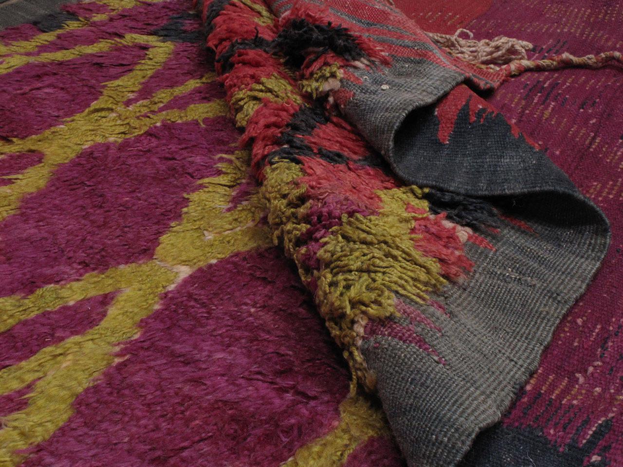 Wool Ait Bou Ichaouen Moroccan Berber Carpet For Sale