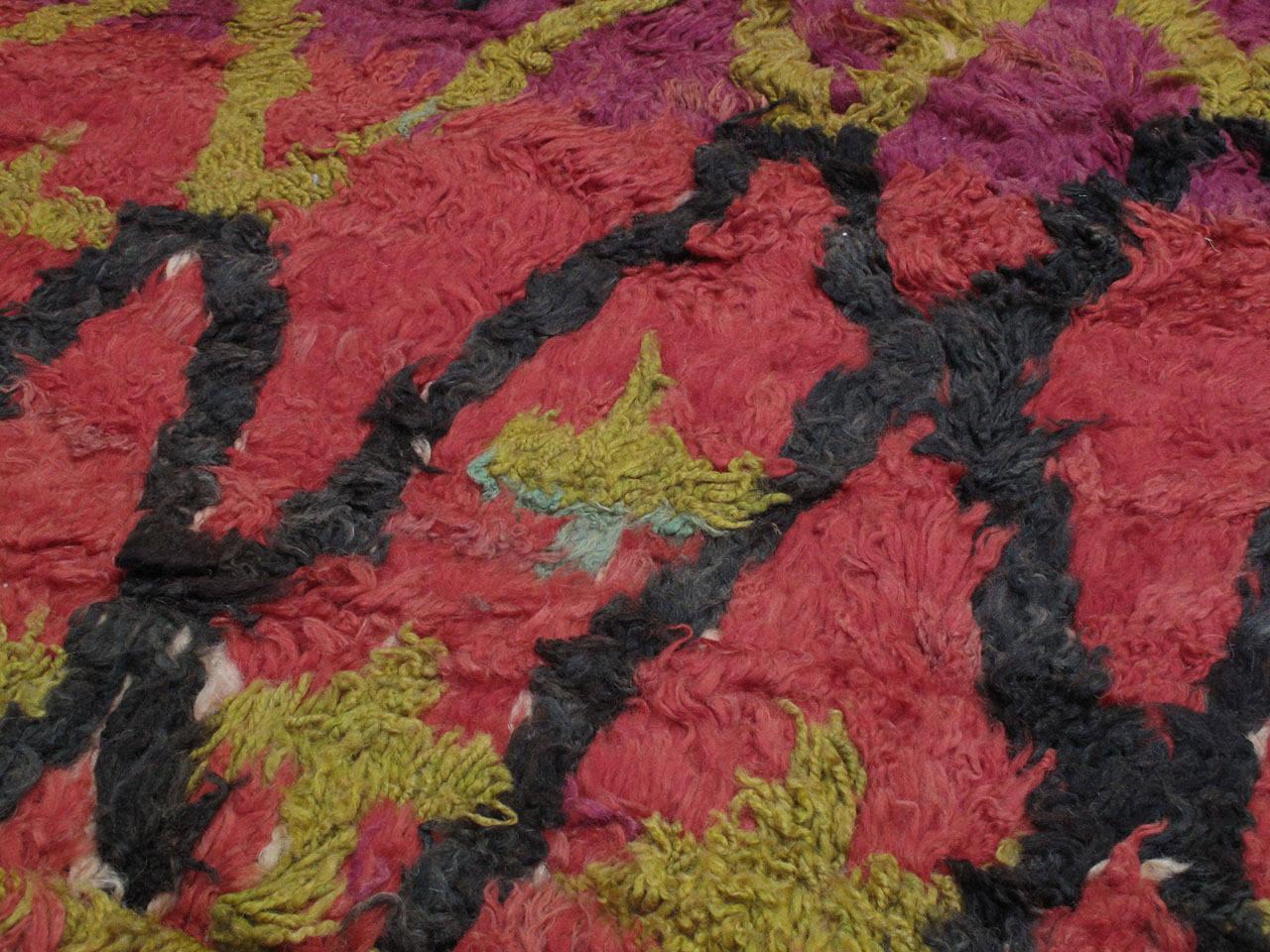 Hand-Woven Ait Bou Ichaouen Moroccan Berber Carpet For Sale