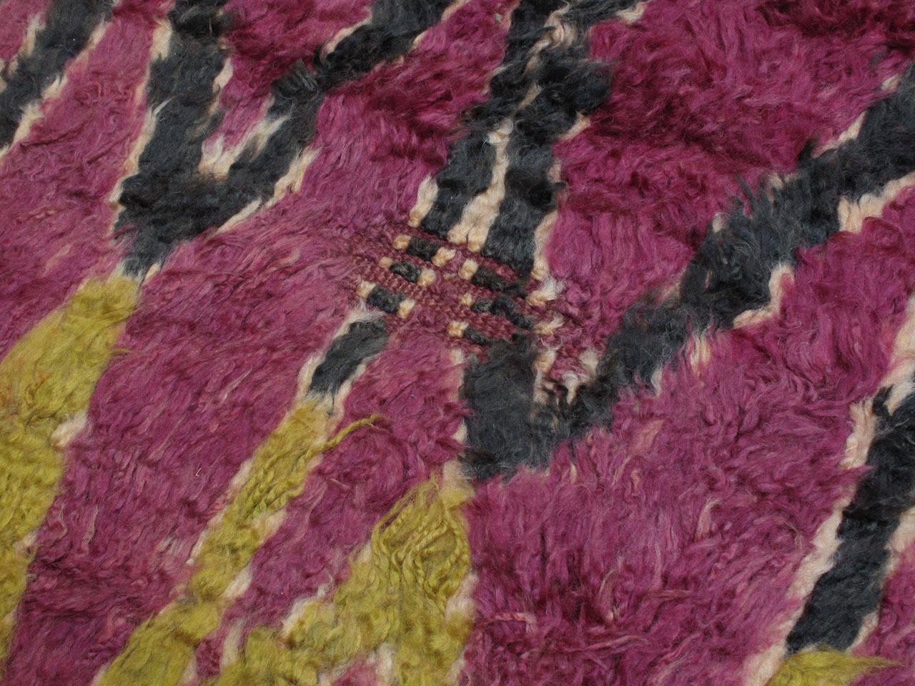 20th Century Ait Bou Ichaouen Moroccan Berber Carpet For Sale