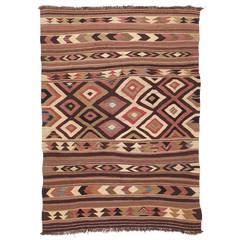 Antique Bowlan Kilim Rug