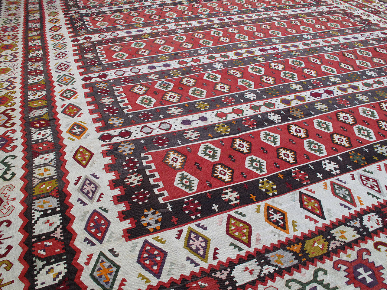 Serbian Balkan Kilim Rug For Sale