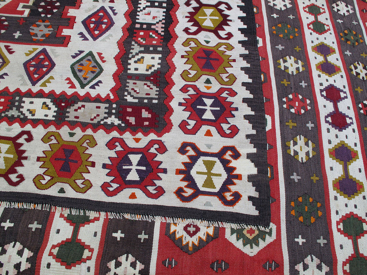 Balkan Kilim Rug For Sale 2