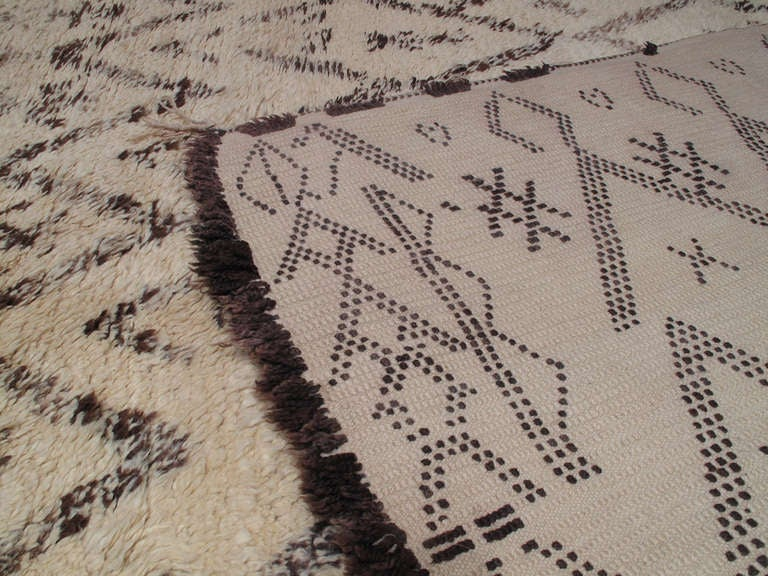 Late 20th Century Beni Ouarain Moroccan Berber Rug For Sale