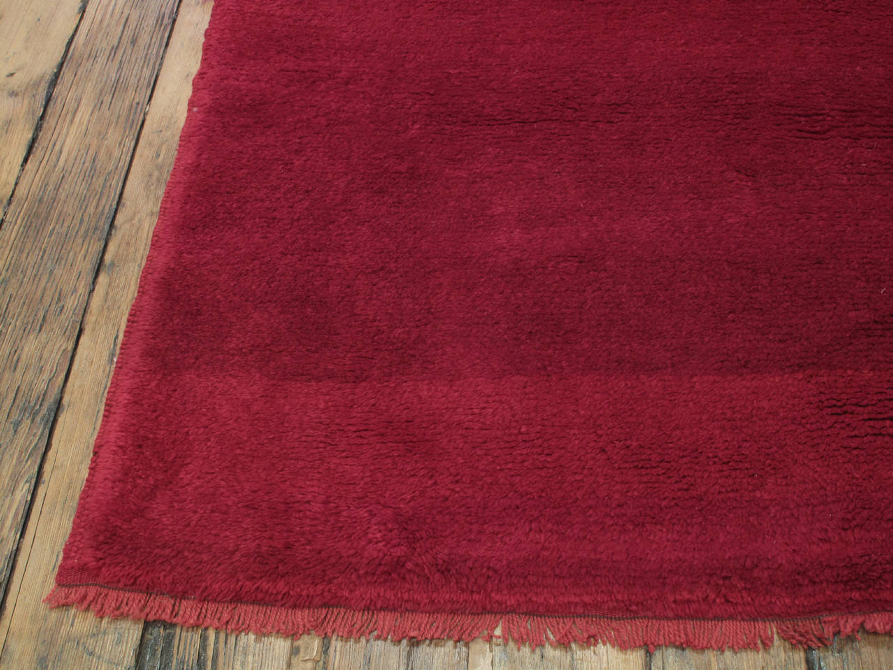 Hand-Knotted Fantastic Red Tulu Carpet For Sale