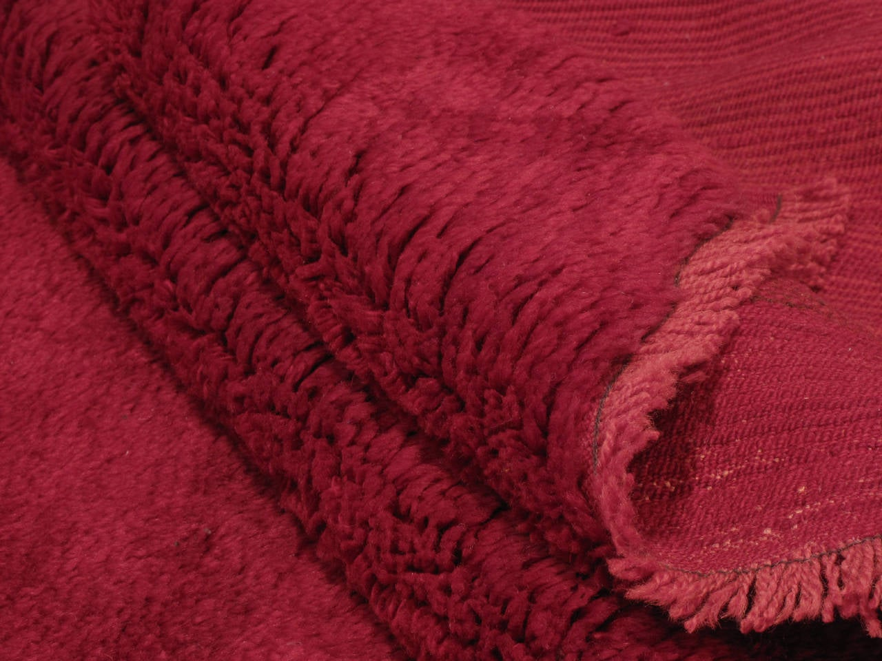 Wool Fantastic Red Tulu Carpet For Sale