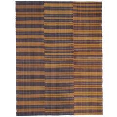 Banded Cover Rug in Three Panels