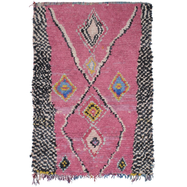 """Moroccan Boucherouite Rug For Sale At 1stdibs: Pink """"Boucherouite"""" Rug At 1stdibs"""