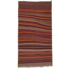 Kilim Rug with Crazy Bands